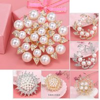 Pins, Brooches Est Pearl For Women Designer Elegant Flower Pins Fashion Jewelry Clothes Accessories Luxury Gifts Mothers Day