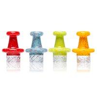 Accessori per fumare narghilè spinning tappo di carboidrato colorato vetro borosilicato per al quarzo Banger Bongs tubo acqua popolare unico tipo inebriante in vendita