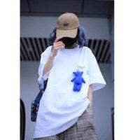 Ader Error Doll Bear Cotton Tops Tees Streetwear Women's T-shirt T Shirt for Men Men's Clothing Woman Clothes Couple Tee