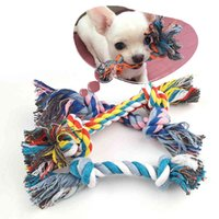 Pcs 1 Dog Bite Rope Toys Pets s Supplies Pet Puppy Cotton Chew Knot Toy Durable Braided Bone Funny Tool Random Color Size Is