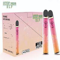 PUFF BAR PLUS 1200puffs Disposable cigarettes,cigarette Cartridge 650mAh Battery 4mL Pre-Filled Vape with Security Puffbar VS Mr Vapor