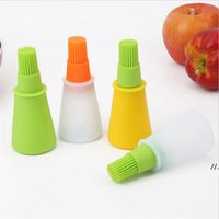 Baking Oil Brush Silicone Oil Bottle with Cap Barbecue Brush...