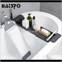 Conjunto acessório de banho Baispo Retrátil Banheira de armazenamento de armazenamento de prateleira de cozinha Sorage Cremalheira Multi-função Acessórios para banheiro Conjuntos Enbvb Y7P3X