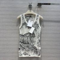 2021 Damen Tanks Camis Sommer Herbst U Neck Sleeveless Marke Gleiche Stil Westen Designer Luxusmäntel 0719-5