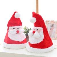 Brinquedos criativos de Natal elétrico Balanço com música chapéu Papai Noel decoração de presente O27M928