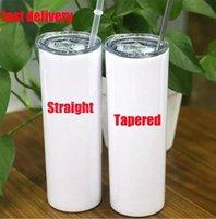 똑바로! 20oz 승화 머그컵 밀짚 스테인레스 스틸 물 병 이중 절연 컵이 두 번 절연 컵이 포함됩니다. Fast Shippng CT19 포함