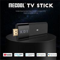 MECOOL KD1 Stick Amlogic S905Y2 TV-Box Android 10 2 GB 16GB-Unterstützung Google-zertifizierte Stimme 4k 2.4g 5g Wifi BT Dongle DHL