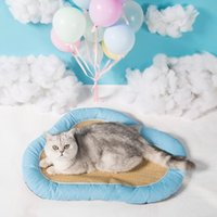 Cat Beds & Furniture Pet Supplies Cloud Shape Bed Breathable Top Quality Dog Pad Anti-slip Four Seasons Universal Comfortable Sleeping Kenne