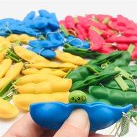 Squeeze-a-fagiolo regalo set rosso verde blu giallo pisello poppers irrequieto giocattoli per giocattoli Squeezy Soia Semplice tasto tasto tasto portachiavi portachiavi spremere puzzle di dito soia 580 B3