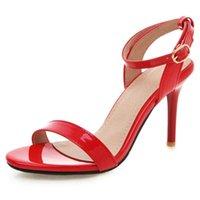 Fanyuan 2021 Sandálias de verão tornozelo Cruz Cruz Alta Salto alto sapatos Mulheres Peep Toe Bombas Sexy Zapatos de Mujer Tacon Sapatos Dress