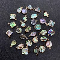 Charms 1pc Natural Abalone Shell Shell Pendant fai da te facendo braccialetto di moda collana orecchini per donna cavigliera accessori per capelli gioielli