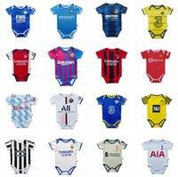 Manchester 2021 2022 Paris Gerçek Madrid Bebek Futbol Formaları 6 ila 18 Sao Paulo Flameng Ay Futbol Gömlek Topu Bebek Kadro Bodysuit 21 22 Giysi Maillots Futbol