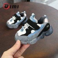 DIMI 2021 Весна Новые Детские Мягкие Нескользящие Младенческие Первые Уокеры Сетка Дышащие детские кроссовки Обувь малышей для девочек