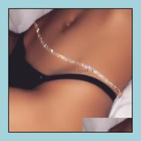 Chains Necklaces & Pendants Jewelryfl Diamond Sexy Waist Ladies Crystal Belly Hip Body Chain Jewelry Girl Belt Summer Beach Belts For Women