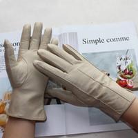 Cinq doigts Gants Bickmods Cuir Pour Femme Couleur Courte Mouton Cur de Mouton Couper la main à chaud Hiver