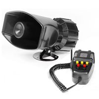 Police Car Warning Alarm Fire Siren with 7 Sounds in DC12V 60W 110DB