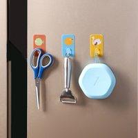 Creative Cute Wall Hook Free Punching Seamless Hooks Load-bearing Powerful Self Adhesive Wall Hanger Kitchen Bathroom Organizer