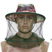 Сад поставляет Mosquito Net Hat Открытый удержание насекомых Профилактика Caps Сетка Рыбалка на свежем воздухе Одинокая головка шеи DHD6158