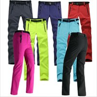 Mulheres espessas quente lã softshell calças de pesca camping caminhadas calças de esqui à prova de vento à prova d'água Novo Pantolon RW041