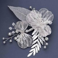 White Flower Hairgrips Hairpins Hair Clips Bride Wedding Jewelry Accessories Women Girls Party Ornaments Headpieces & Barrettes