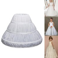 Skirts Ly 1 Pcs Children Kids Girl Petticoat Pannier Skirt 3 Hoops For Wedding Dress Party