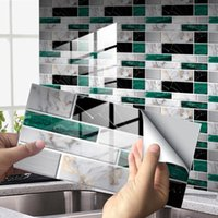 Marble Crystal Tile Wall Sticker Self Adhesive Floor Home Kitchen Renovation Stove Oil Proof Baffle Mural Decal Stickers