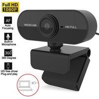 Webcam Mini fotocamera HD full 1080P piccolo USB Web Cam integrato Microfono integrato AUTO FOCUS Meeting Meeting Photo Videochiamata Desktop WebCamera Plug and Play per computer portatile