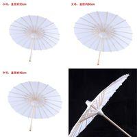 Bridal Wedding Parasols Bianco Cartoombrino Ombrelloni Mini ombrellone Cinese Mini Artigianato 4 Diametro: 20,30,40,60cm Ombrelli da sposa per all'ingrosso 642 S2