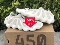 2021 Authentic 450 nuage blanc H68038 Chaussures extérieures Mens Dark Skate Cloud -Plack Kanye West Wave Runner Sneakers avec boîte originale 36 -47