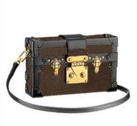 Дизайнерская коробка для плеча сумки сумки вечерние сумки кожаные мода коробка муфт кирпич известный посланник плечо M44199 Petite Malle сумка