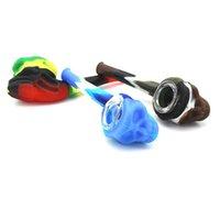 Устойчивые нефтяные и водяные пятна силиконовые табачные трубы курительные трубы красочные стеклянные руки для дыма