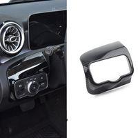 ABS Araba Far Anahtarı Kontrol Paneli Trim Kapak Çıkartmalar Fit Mercedes Benz bir Sınıf W177 CLA C118 Oto Accessior