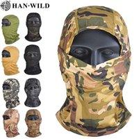 Maske Hanwild Açık Aktif Kamuflaj Bivakmuts Fulfill Maskesi CS Wargame Bisikletleri Avcılık Ordu Helm Taktik Airsoft Cap Şal