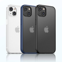 Phone Case Military Grade Defend Armor Transparent Shockproof TPU Hybrid PC 1.5MM Hard Clear Cover Anti-Scratch Soft Edge Protect Heavy Duty for iPhone 13 Pro Max Mini