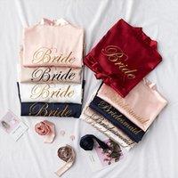 Wedding Bride Bridesmaid Robes Dressing Women Sleepwear Gown Sexy Bathrobe Nightgown Short Flower Kimono Plus Size