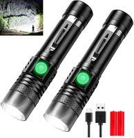 Другое Светодиодное освещение Pocketman Мощные фонарики USB Аккумуляторная факел Тактический водонепроницаемый масштабируемый масштабируемый Использование аккумулятор 18650