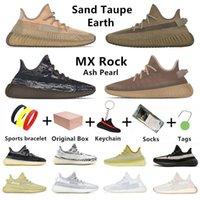 yeezy 350 v2 kanye west Ash pearl blue stone mens Running shoes MX Rock fade أسود أبيض ثابت الرمال Taupe earth عاكس للعاكس ولدت حمار وحشي الرجال النساء أحذية رياضية رياضية