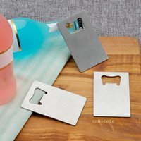 8.5*5.5cm Pocket Wallet Size Stainless Steel Credit Card Beer Bottle Opener Can Openers Kitchen Tool T2I52788