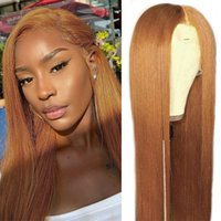 Lace Wigs Ginger Brown 13x4 Front Wig 99j Burgundy Colored Bone Straight Human Hair For Women Frontal Remy