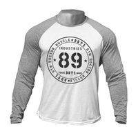 Männer T-shirt Baumwolle Fitness Bodybuilding Langarm Sport Top Mode Lässige Marke Frühling Herbst Neue Jogging Männlich Ciothing 210329