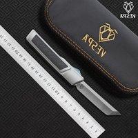High VESPA quality knives Ripper survival Blade:M390(Satin) camping Knife tools Handle:7075Aluminum folding + EDC CF,Outdoor Onhbn