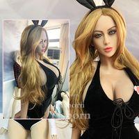 160 cm Real Silicone Sex Bambola per gli uomini Realistic Big Breast Ass Vagina Anale TPE Bambola Doll Maschio Masturbazione Vagina Anus Sesso orale Bambola adulta