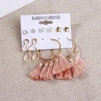 Geometry Earrings Metal Love Heart Shaped Flower Tassels Fashion Accessories Jewelry Ear Pendants Woman Studs 5 9fx K2