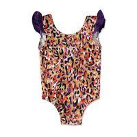 Girls One-Pieces Kids Swimwear Suits Baby Swimming Swimsuit Children Dress Leopard Cute 0-3T B5324
