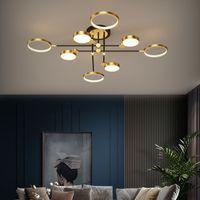 Nordic Modern Deckenleuchten Glanz für Wohnzimmer Schlafzimmer Esszimmerstudie LED Techo Gold Lampenbefestigung