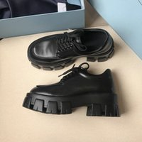 2021 Quality Patent Luxury Release Chunky Women Punk Moto Black Shoes Designer Leather Platform Loafers Moccasins 1