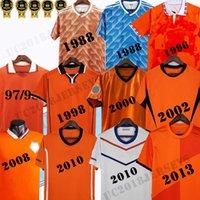 Retro 1988 Fussball Jerseys 88 van Basten 1997 1998 1994 Holland Bergkamp 96 97 98 12 14 Gullit Rijkaard Davids 2000 2008 Klassische Fußballshirts