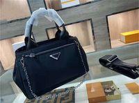 Saco de caixa 2021, bolsa de designer de luxo, bolsas de ombro, bolsas, tecido impermeável e hardware eletrodo, linhas claras, produto único elegante, tamanho 26 * 18cm