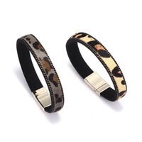 Tennis Horse Hair Preparation Alloy Woman Leather Bracelets Leopard Pattern Print Lady Luxury For Man