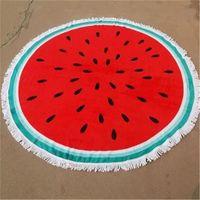 Towel Printed Beach 100 Cotton Round Tassel Large Drap De Plage Playa Camping Luxury Quick Dry Summer Pool Q